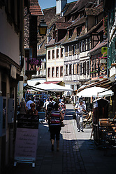 Street scene in Obernai, Alsace, France<br /> <br /> (c) Andrew Wilson | Edinburgh Elite media