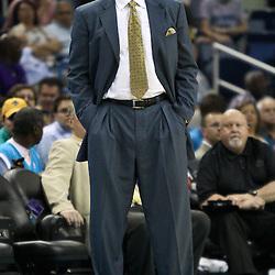 April 11, 2011; New Orleans, LA, USA; Utah Jazz head coach Tyrone Corbin against the New Orleans Hornets during a game at the New Orleans Arena. The Jazz defeated the Hornets 90-78.  Mandatory Credit: Derick E. Hingle