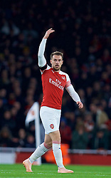 LONDON, ENGLAND - Saturday, November 3, 2018: Arsenal's Aaron Ramsey during the FA Premier League match between Arsenal FC and Liverpool FC at Emirates Stadium. (Pic by David Rawcliffe/Propaganda)