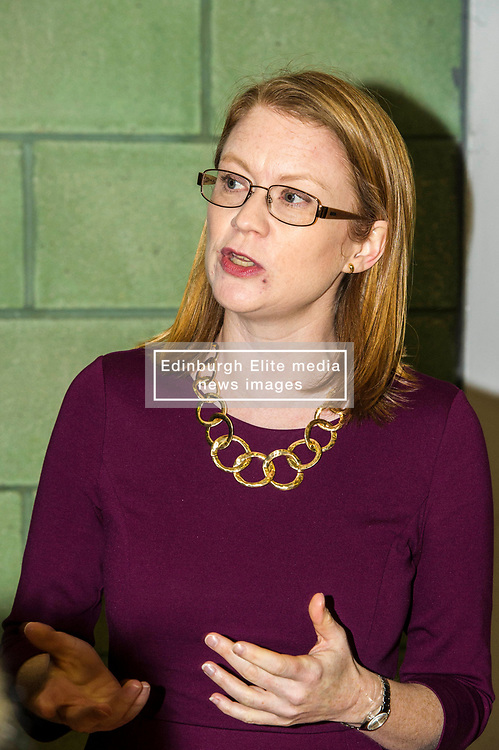 Pictured: Shirley-Anne Somerville<br /> <br /> Further and Higher Education Minister Shirley-Anne Somerville visited Edinburgh College's Granton campus to view the sport facilities and to announce a new GBP465,000 investment fund for the student sport sector.<br /> <br /> Ger Harley | EEm 8 February 2018