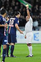 Carton Jaune Zlatan IBRAHIMOVIC / Said ENNJIMI - 13.01.2015 - Saint Etienne / Paris Saint Germain - 1/4Finale Coupe de la Ligue<br />Photo : Jean Paul Thomas / Icon Sport