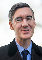 © Licensed to London News Pictures. 14/02/2019. London, UK. Brexiteer, JACOB REES-MOGG is seen in Westminster, on the day that MPs are due to take part in further debates and votes on Brexit. A series of amendments are being tabled to try to change the direction of Brexit, but a vote on a deal will not be held today as was originally planned. Photo credit: Ben Cawthra/LNP