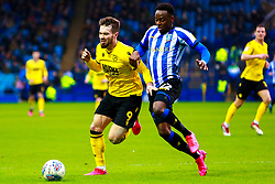 Moses Odubajo of Sheffield Wednesday and Tom Bradshaw of Millwall chase down the ball - Mandatory by-line: Ryan Crockett/JMP - 01/02/2020 - FOOTBALL - Hillsborough - Sheffield, England - Sheffield Wednesday v Millwall - Sky Bet Championship