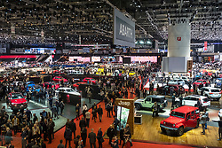 View of exhibition hall at 87th Geneva International Motor Show in Geneva Switzerland 2017