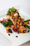 Wild Striped Bass cooked by  Roberto Stabile, Chef of Primo e Secondo, in Little Italy / La Petite Italie, Montréal, Québec, Canada, 2008 08 19. © Photo Marc Gibert / adecom.ca