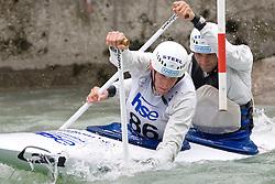 Luka Bozic and Saso Taljat of Kajak klub Soske elektrarne compete in the Men's double Canoe C-2 at kayak & canoe slalom race on May 9, 2010 in Tacen, Ljubljana, Slovenia. (Photo by Vid Ponikvar / Sportida)