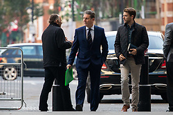 © Licensed to London News Pictures. 21/10/2018. London, UK. Shadow Secretary of State for Exiting the European Union Keir Starmer (centre) arriving at BBC Broadcasting House to appear on The Andrew Marr Show this morning. Photo credit : Tom Nicholson/LNP