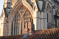 The 9 light perpendicular east window of Beverley Minster dated 1412