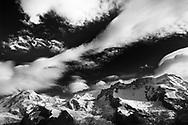 Berge um Zermatt. Liskamm, Castor, Pollux und Breithorn (vlnr).<br /> <br /> Mountains around Zermatt. Castor, Pollux und Breithorn (fltr).
