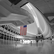 The Oculus of the World Trade Center transportation hub designed by Santiago Calatrava; Battery Park City.