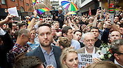 Vigil for the people murdered in the Pulse Club shooting in Orlando Florida by Omar Mateen<br /> in Old Compton Street, London, Great Britain <br /> 13th June 2016 <br /> <br /> <br /> <br /> <br /> Jeremy Corbyn <br /> Leader of the labour Party <br /> <br /> <br /> Photograph by Elliott Franks <br /> Image licensed to Elliott Franks Photography Services