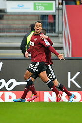 25.01.2014, easyCredit Stadion, Nuernberg, GER, 1. FBL, 1. FC Nuernberg vs TSG 1899 Hoffenheim, 18. Runde, im Bild Timothy Chandler (1 FC Nuernberg / vorne) bejubelt sein Tor zum 1:0 mit Josip Drmic (1 FC Nuernberg / dahinter) // during the German Bundesliga 18th round match between 1. FC Nuernberg and TSG 1899 Hoffenheim at the easyCredit Stadion in Nuernberg, Germany on 2014/01/25. EXPA Pictures © 2014, PhotoCredit: EXPA/ Eibner-Pressefoto/ Merz<br /> <br /> *****ATTENTION - OUT of GER*****