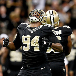 November 5, 2012; New Orleans, LA, USA; New Orleans Saints defensive end Cameron Jordan (94) against the Philadelphia Eagles during the second half of a game at the Mercedes-Benz Superdome. The Saints defeated the Easgles 28-13. Mandatory Credit: Derick E. Hingle-US PRESSWIRE