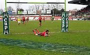 Barry Murphy scores the final try. Montauban v Munster,  Heineken Cup Pool A match in Montauban, France. 25th Jan 09.