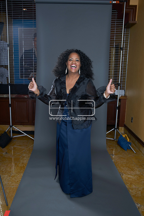February 22, 2016. Las Vegas, Nevada.  The 22nd Reel Awards and Tribute Artist Convention in Las Vegas. Celebrity lookalikes from all over the world gathered at the Golden Nugget Hotel for the annual event. Pictured is Oprah lookalike, Carol Woodle.<br /> Copyright John Chapple / www.JohnChapple.com /