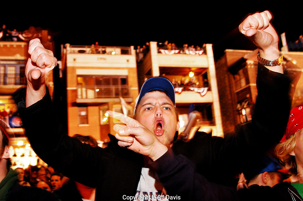 Outside Wrigley Field during the infamous Steve Bartman game, October 14, 2003.