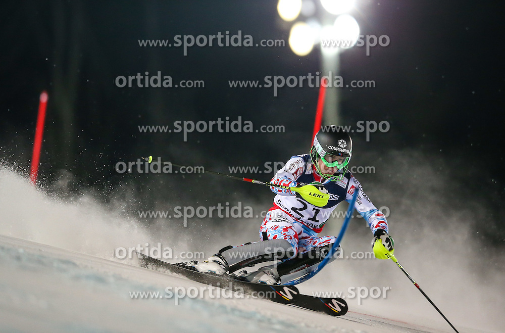 11.02.2013, Planai, Schladming, AUT, FIS Weltmeisterschaften Ski Alpin, Super Kombination, Slalom, Herren, im Bild  Alexis Pinturault (FRA) // Alexis Pinturault of France  in action during Mens Super Combined Slalom at the FIS Ski World Championships 2013 at the Planai Course, Schladming, Austria on 2013/02/11. EXPA Pictures © 2013, PhotoCredit: EXPA/ Johann Groder