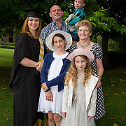 "25.08.2016          <br />  Faculty of Business, Kemmy Business School graduations at the University of Limerick today. <br /> <br /> Attending the conferring was Higher Certificate in Supervisory and Human Resources Practice graduate, Fiona Steed with her husband John Hayes and children, Sally, Roisin and Bill and her mother Maureen Steed. Picture: Alan Place.<br /> <br /> <br /> As the University of Limerick commences four days of conferring ceremonies which will see 2568 students graduate, including 50 PhD graduates, UL President, Professor Don Barry highlighted the continued demand for UL graduates by employers; ""Traditionally UL's Graduate Employment figures trend well above the national average. Despite the challenging environment, UL's graduate employment rate for 2015 primary degree-holders is now 14% higher than the HEA's most recently-available national average figure which is 58% for 2014"". The survey of UL's 2015 graduates showed that 92% are either employed or pursuing further study."" Picture: Alan Place"