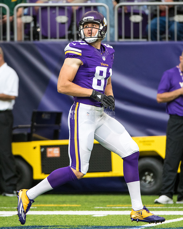 Aug 28, 2016; Minneapolis, MN, USA; Minnesota Vikings wide receiver Moritz Bohringer (81) during a preseason game against the San Diego Chargers at U.S. Bank Stadium. The Vikings defeated the Chargers 23-10. Mandatory Credit: Brace Hemmelgarn-USA TODAY Sports