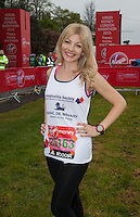 Soprano Aliki Chrysochou was born in Limassol, Cyprus and her musical talent was clear from an early age. In 2013 Aliki took part in Britain's Got Talent progressing through to the semi-finals - photographed at the celebrity start of the Virgin Money London Marathon 2015, Sunday 26th April 2015<br /> <br /> Roger Allen for Virgin Money London Marathon<br /> <br /> For more information please contact Penny Dain at pennyd@london-marathon.co.uk