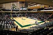 General overall view of the Alaska Airlines Center.  The facility is the home court of the Alaska Anchorage Seawolves and site of the Great Northwest Athletic Conference Tournament in Anchorage, Alaska on Friday, March 2, 2018. (Jay Christensen/Image of Sport)