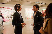 VLADIMIR RESTOIN ROITFELD; NICHOLAS POL, Private view of the exhibition ' Mother of Pouacrus' by Nicholas Pol. Presented by Vladimir Restoin Roitfeld. The Old Dairy, Wakefield St.  London. 14 October 2010. <br /> <br /> -DO NOT ARCHIVE-© Copyright Photograph by Dafydd Jones. 248 Clapham Rd. London SW9 0PZ. Tel 0207 820 0771. www.dafjones.com.
