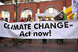 Climate Crisis campaign protest outside Reading Council offices to push change in council policy towards the environment. The Labour Council then adopted a Climate Emergency policy. Attending the demo were Extinction Rebellion, Friends of the Earth & Greenpeace. Reading UK 27 February 2019