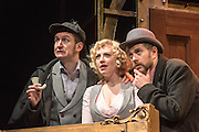 11/12/2014. Potted Sherlock: all sixty Sherlock Holmes stories retold in eighty elementary minutes. Starring Dan Clarkson, Jeff Turner & Lizzie Wort.  At the Vaudeville Theatre.