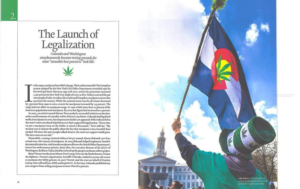 "Photo in TIME Special Edition ""Marijuana Goes Main Street""."