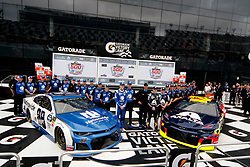 February 10, 2019 - Daytona, FL, U.S. - DAYTONA, FL - FEBRUARY 10:William Byron, Hendrick Motorsports, Chevrolet Camaro Axalta (24), Alex Bowman, Hendrick Motorsports, Chevrolet Camaro Nationwide (88)represent the front starting row for the 61st annual Daytona 500 on February 10, 2019 at Daytona International Speedway in Daytona Beach, Florida  (Photo by Jeff Robinson/Icon Sportswire) (Credit Image: © Jeff Robinson/Icon SMI via ZUMA Press)