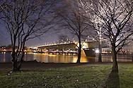 DEU, Germany, Cologne, the Zoo bridge across the river Rhine.....DEU, Deutschland, Koeln, die Zoobruecke ueber den Rhein...