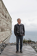 Odawara, Kanagawa Prefecture, Japan, March 20 2018 - Portrait of Japanese artist Hiroshi SUGIMOTO at the Enoura Observatory, he founded and opened in October 2017.
