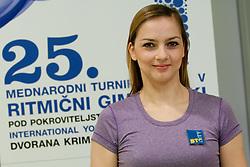 Tjasa Seme at Press conference of 25th International tournament MTM Narodni dom, on April 3, 2012 at Unija racunovodska hisa d. d., Brezovica, Slovenia. (Photo By Matic Klansek Velej / Sportida.com)