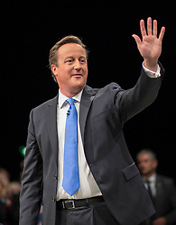 David Cameron Keynote Speech.<br /> Prime Minister David Cameron delivers his keynote speech to the Conservative Party Conference, Manchester, United Kingdom. Wednesday, 2nd October 2013. Picture by i-Images
