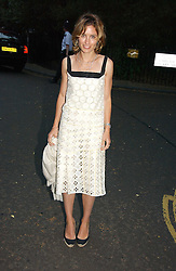 SHEHERAZADE GOLDSMITH at Sir David & Lady Carina Frost's annual summer party held in Carlyle Square, Chelsea, London on 5th July 2006.<br />