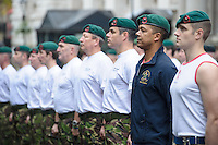20121110       Copyright image 2012©..Commando 999 fund raising speed march through London.For photographic enquiries please call Anthony Upton 07973 830 517 or email info@anthonyupton.com .This image is copyright Anthony Upton 2012©..This image has been supplied by Anthony Upton and must be credited Anthony Upton. The author is asserting his full Moral rights in relation to the publication of this image. All rights reserved. Rights for onward transmission of any image or file is not granted or implied. Changing or deleting Copyright information is illegal as specified in the Copyright, Design and Patents Act 1988. If you are in any way unsure of your right to publish this image please contact Anthony Upton on +44(0)7973 830 517 or email: