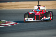 February 21, 2012: Formula One Testing, Circuit de Catalunya, Barcelona, Spain. Fernando Alonso, Ferrari F2012