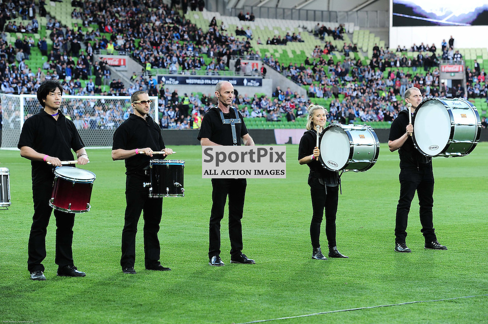 Drummers in the pre-game of the Westfield FFA Cup Final, 7th November 2015, Melbourne Victory FC v Perth Glory FC - © Mark Avellino | SportPix.org.uk