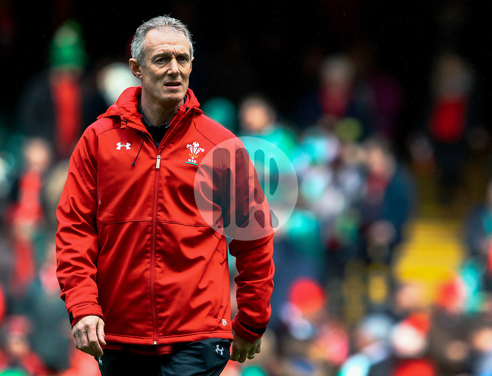 Rob Howley Attcak Coach of Wales<br /> <br /> Photographer Simon King/Replay Images<br /> <br /> Six Nations Round 5 - Wales v Ireland - Saturday 16th March 2019 - Principality Stadium - Cardiff<br /> <br /> World Copyright © Replay Images . All rights reserved. info@replayimages.co.uk - http://replayimages.co.uk