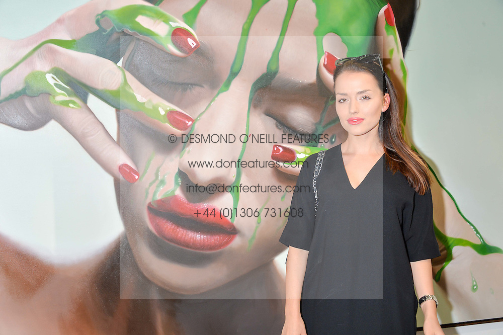 VALERIA COSTA MARTINEZ at a private view of woks by German artist Mike Dargas held at the Opera Gallery, 134 New Bond Street, London on 5th July 2016.
