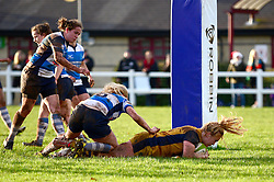Abbie Parsons of Bristol Ladies scores a try - Mandatory by-line: Dougie Allward/JMP - 11/12/2016 - RUGBY - Cleve RFC - Bristol, England - Bristol Ladies v Darlington Mowden Park Ladies - RFU Women's Premiership