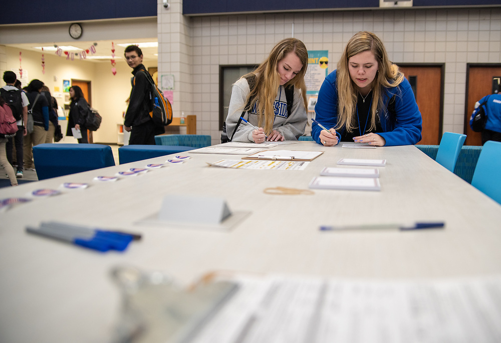 The Houston Independent School District held its districtwide voter registration drive as part of the district's ongoing efforts to teach students about their civic duties and the voting process.