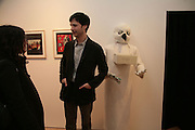 Francesca Gavin and Marcel Dzama. Exhibition of work by Marcel Dzama. Timothy Taylor Gallery.  Dering St. London. 7 March 2007.  -DO NOT ARCHIVE-© Copyright Photograph by Dafydd Jones. 248 Clapham Rd. London SW9 0PZ. Tel 0207 820 0771. www.dafjones.com.