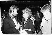 Sting and Lady Oliver(Joan Plowright) 1982© Copyright Photograph by Dafydd Jones 66 Stockwell Park Rd. London SW9 0DA Tel 020 7733 0108 www.dafjones.com
