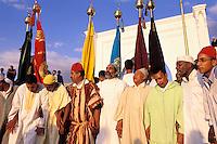Maroc, Mouley Idriss, Transe soufi lors du moussem de moulay Idriss // Sikr (soufism trance), Moussem of Moulay Idriss, Town of Moulay Idriss, Moulay Idris was Morocco founder, Meknes area, Morocco