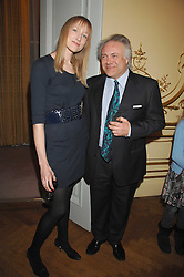 PATRICK GUINNESS and JADE PARFITT at a party to celebrate the publication of 'Arthur's Road' a biography of Arthur Guinness written by Patrick Guinness held at the Irish Embassy, London on 6th March 2008.<br />