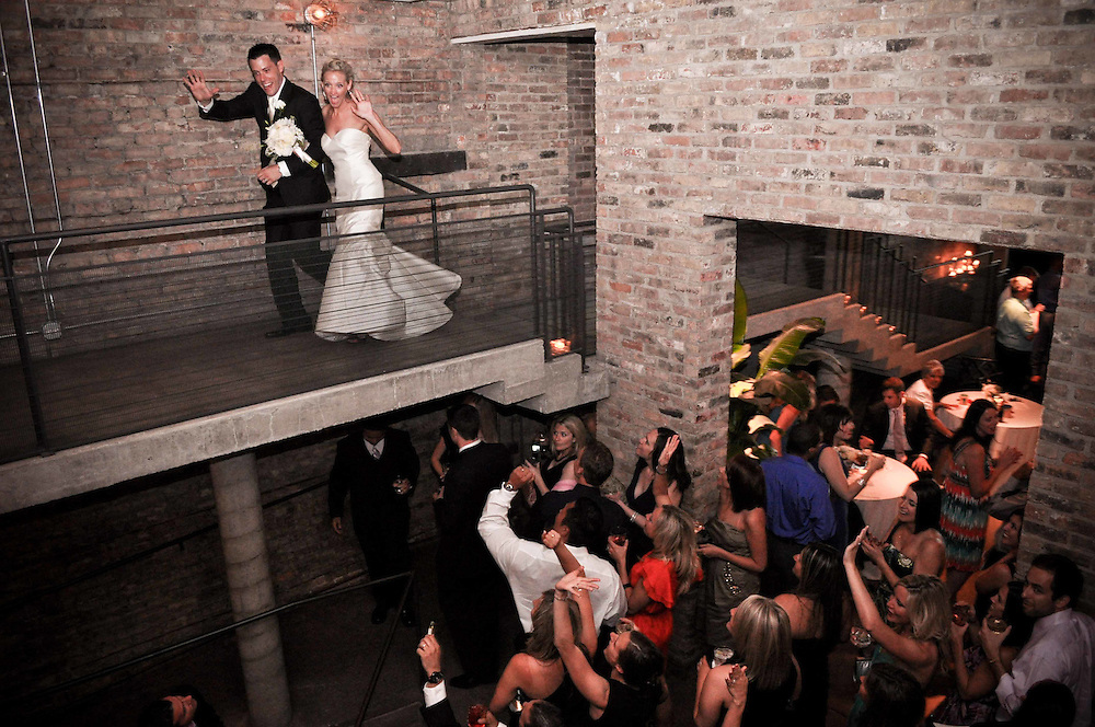 Kelly & Mike make their grand entrance at A New Leaf in Old Town, Chicago, IL