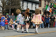 Goshen, New York -  Girls from an Irish step-dancing school perform during the Mid-Hudson St. Patrick's Day parade on March 11, 2007.