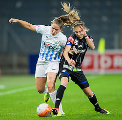 05.10.2016, Merkur Arena, Graz, AUT, CHL, SK Sturm Graz Damen vs FC Zuerich Frauen, Sechzehntelfinale, Hinspiel, im Bild Naomi Megroz (Zuerich) Katharina Naschenweng (Graz) // during the Round of 32, 1st Leg of the UEFA Womens Champions League between SK Sturm Graz Women and FC Zuerich Women at the Merkur Arena, Graz, Austria on 2016/10/05, EXPA Pictures © 2016, PhotoCredit: EXPA/ Dominik Angerer