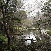Tokyo, Japan March 2009. Koishikawa Korakuen Garden.